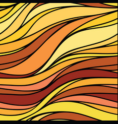 color hand-drawing wave sunny background gradient vector image vector image