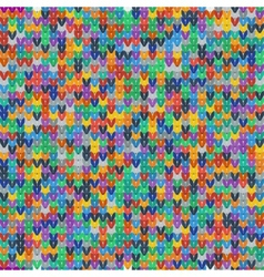 Colorful seamless texture of knitted fabrics vector image vector image