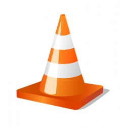 construction and traffic cone vector image vector image