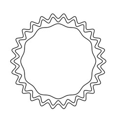 decorative blank label vector image