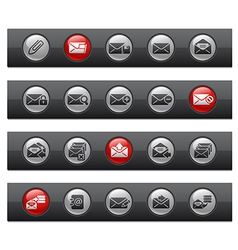 E-mail Buttons vector image vector image