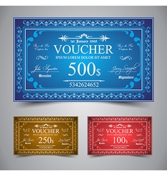 Elegant Voucher Design vector image