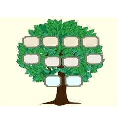 Family tree couple background vector image