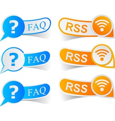 FAQ RSS tags vector image vector image