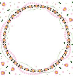 Flower round vector