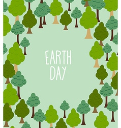 Forest pattern background of trees earth day vector
