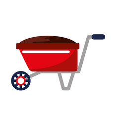 garden wheelbarrow isolated icon vector image