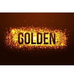 Golden background with glitters Shining fashion vector image vector image