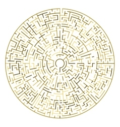 Golden maze circle maze vector