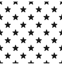 Grunge seamless pattern of black stars on white vector