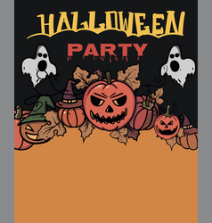 halloween cards creative design for invitation vector image