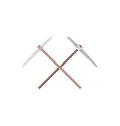 Pick-axe icon flat design vector