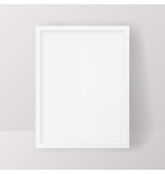 Realistic Empty White Picture Frame isolated on a vector image vector image