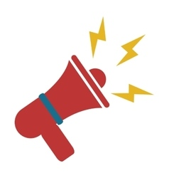 Red megaphone icon vector