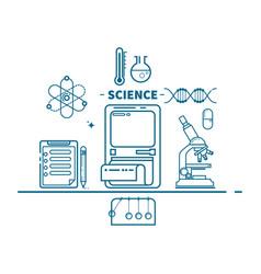 science concept header flat design vector image vector image