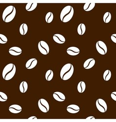 Seamless coffee beans background vector image vector image