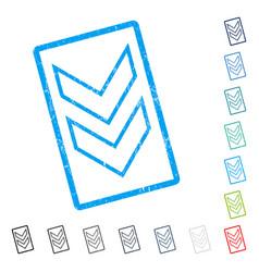 Shift down icon rubber watermark vector