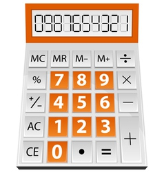 simple calculator vector image vector image