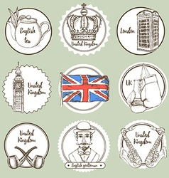 Sketch united kingdom icons vector