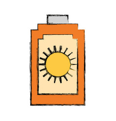 Sun bronzer isolated vector