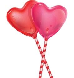 Sweet heart lollipop vector