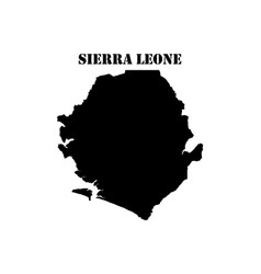 Symbol of sierra leone and map vector