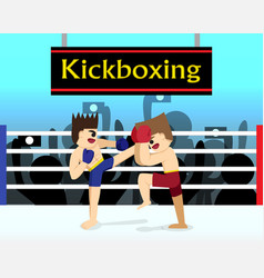 two boxer are fighting in boxing stadium vector image vector image