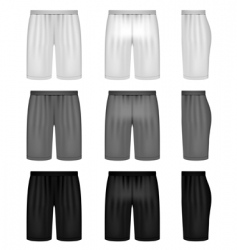 Vector shorts shades of gray vector