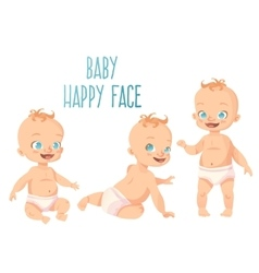 Three cute babies set vector