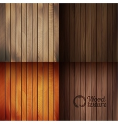 Set of wood texture backgrounds four colors vector image