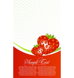 Abstract card with strawberry fruits vector