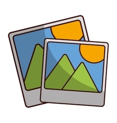 Landscape photograph icon image vector
