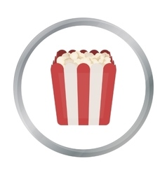 Popcorn icon in cartoon style isolated on white vector