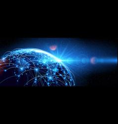 global network world vector image