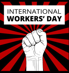 International workers day vector