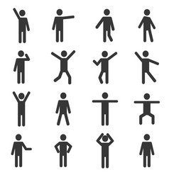 Set of active human pictogram vector