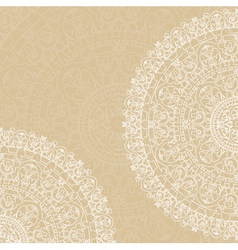 Doilies on beige background vector
