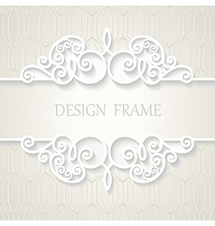 Vintage paper frame with shadow vector