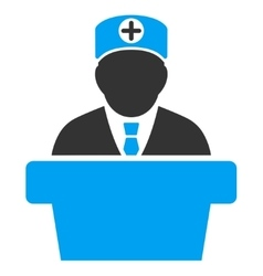 Medical official lecture icon vector