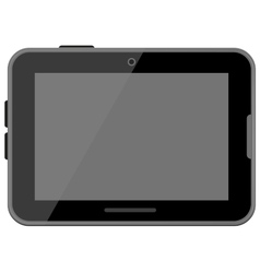 Black digital tablet vector