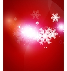 Holiday red abstract background winter snowflakes vector