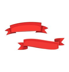 Red cartoon banners vector