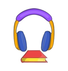 Audio book icon cartoon style vector