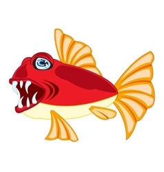 Tropical fish on white vector