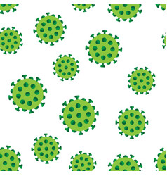 bacteria virus in green colors seamless pattern vector image vector image
