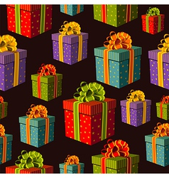 Colorful group of gift boxes pattern vector image vector image