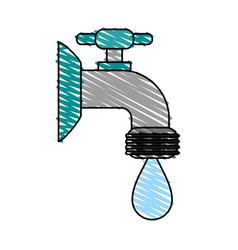 Faucet sideview icon image vector