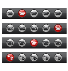 Folder 1 Buttons vector image