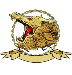 Head of the dragon vector