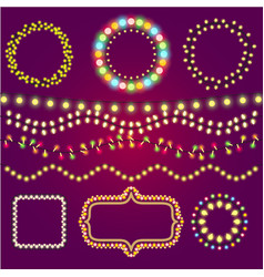 Holidays colorful light casino winner collection vector
